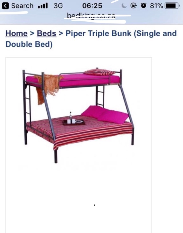 Double/ single bunk bed