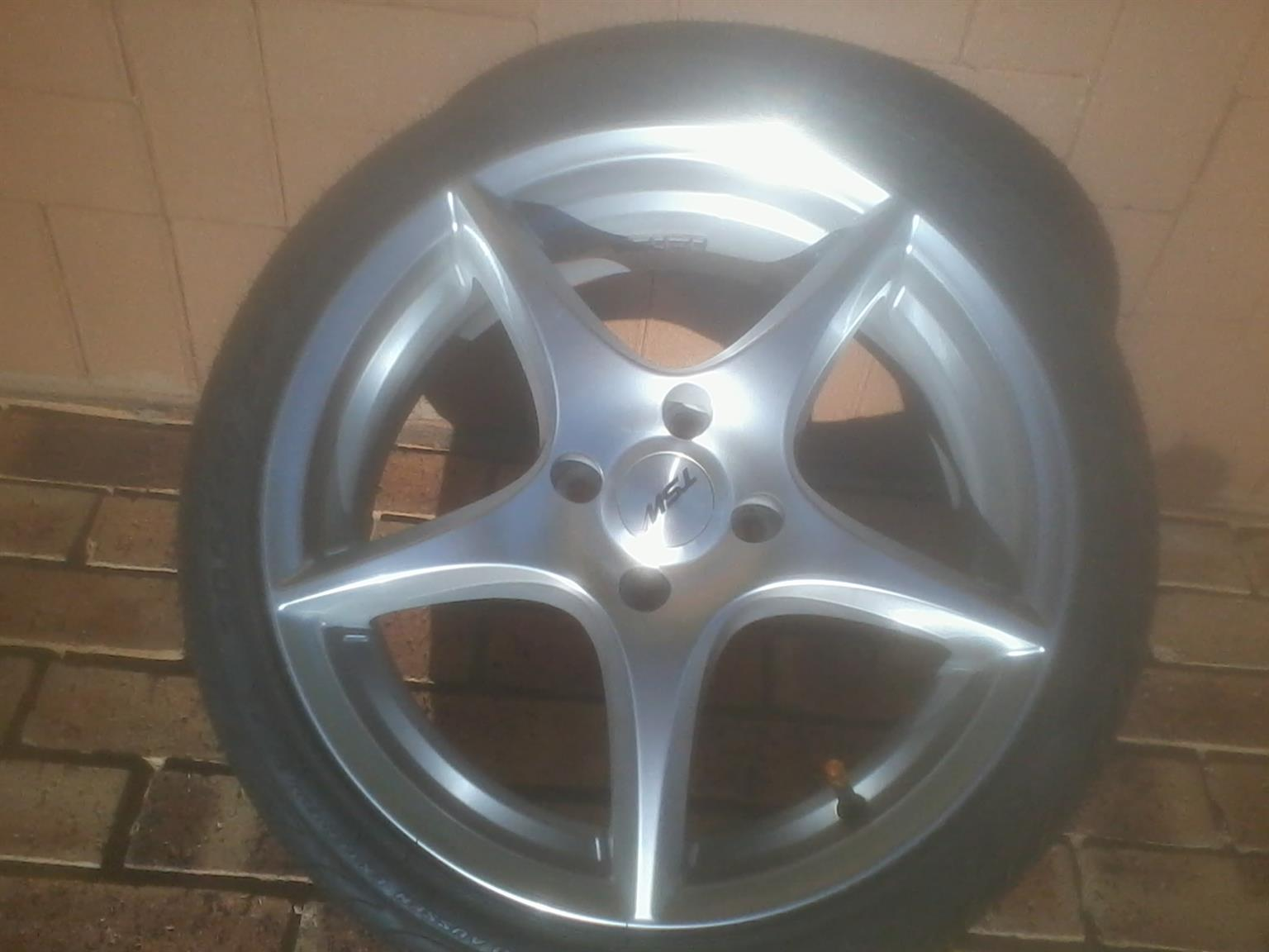 Mag wheel and tyre set for sale