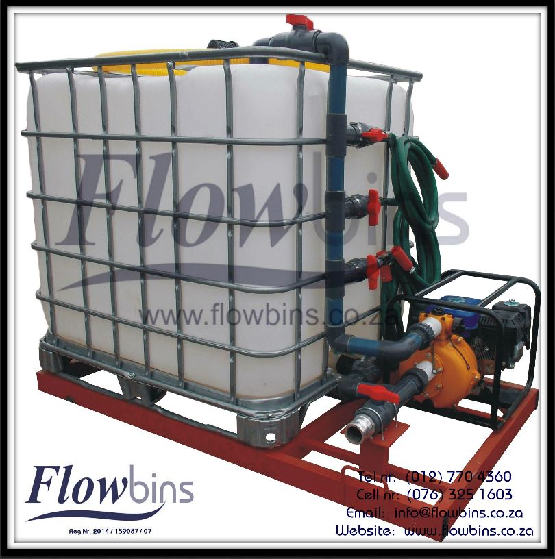 Gauteng: 1000L Water Bowsers / Fire Figthers - Multi Purpose (Suction / Pumping / Mixing)