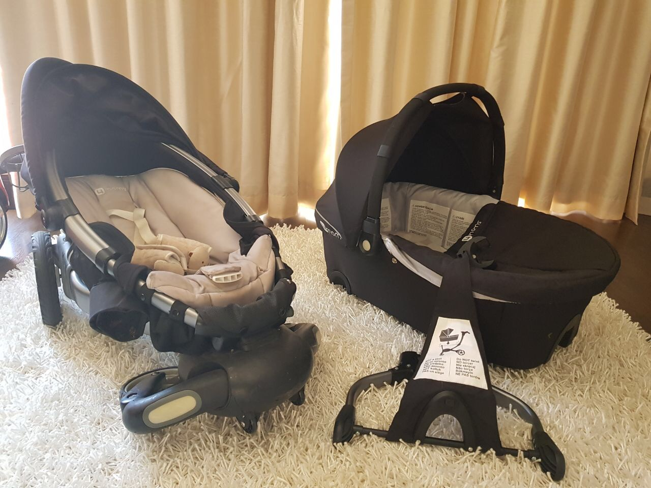 Baby Items - Origami pram, bassinet and car-seat