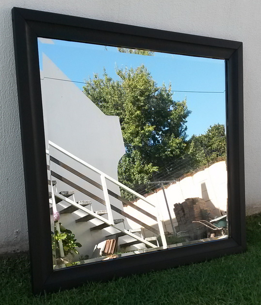 Lovely big beveled edge wall mirror in frame
