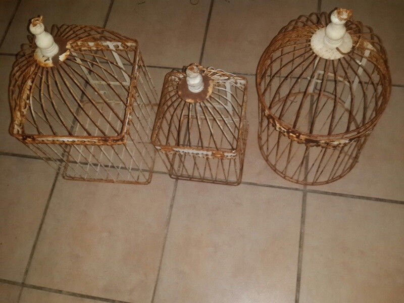 Rustic Bird Cages x3