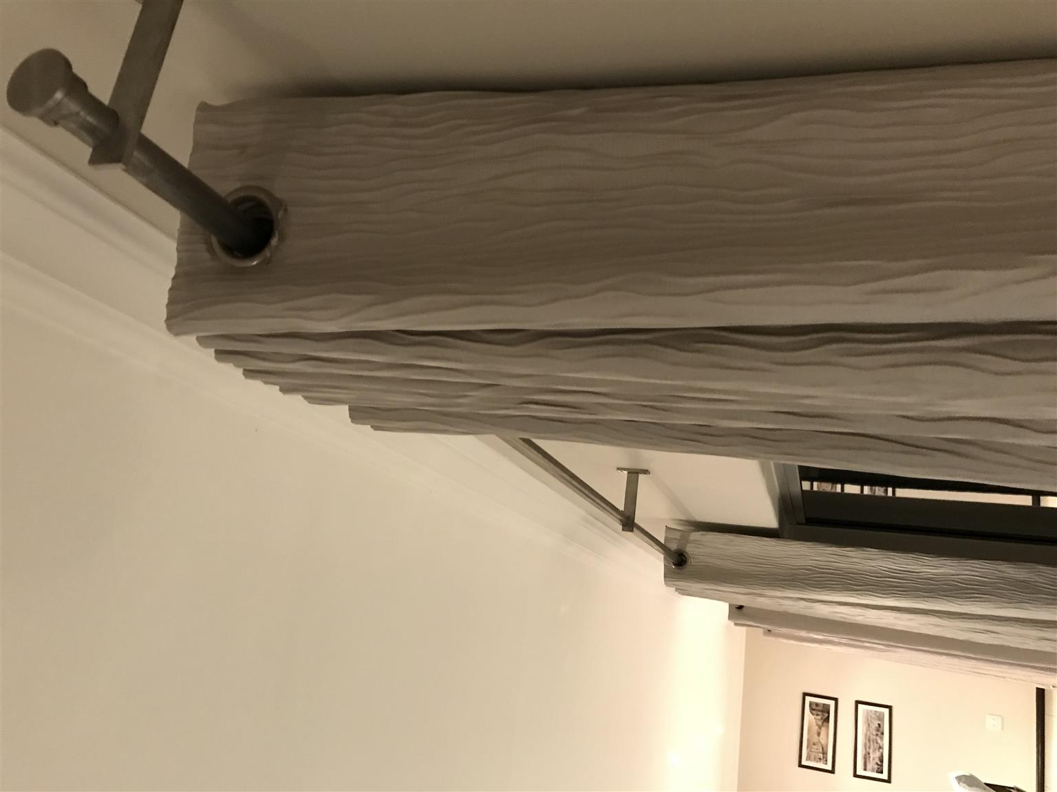 4xDesign House lined curtains 280 drop x 180 cm when drawn closed with additional length