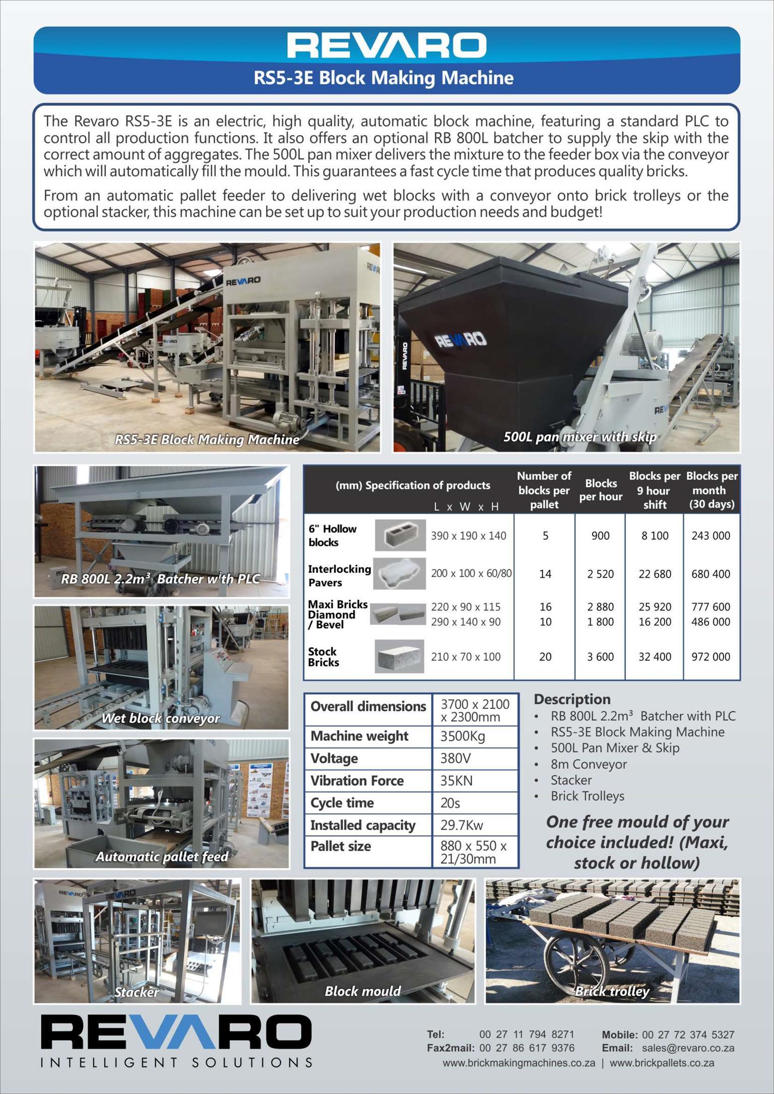 Brick, Block and Paver making machine automatic high production