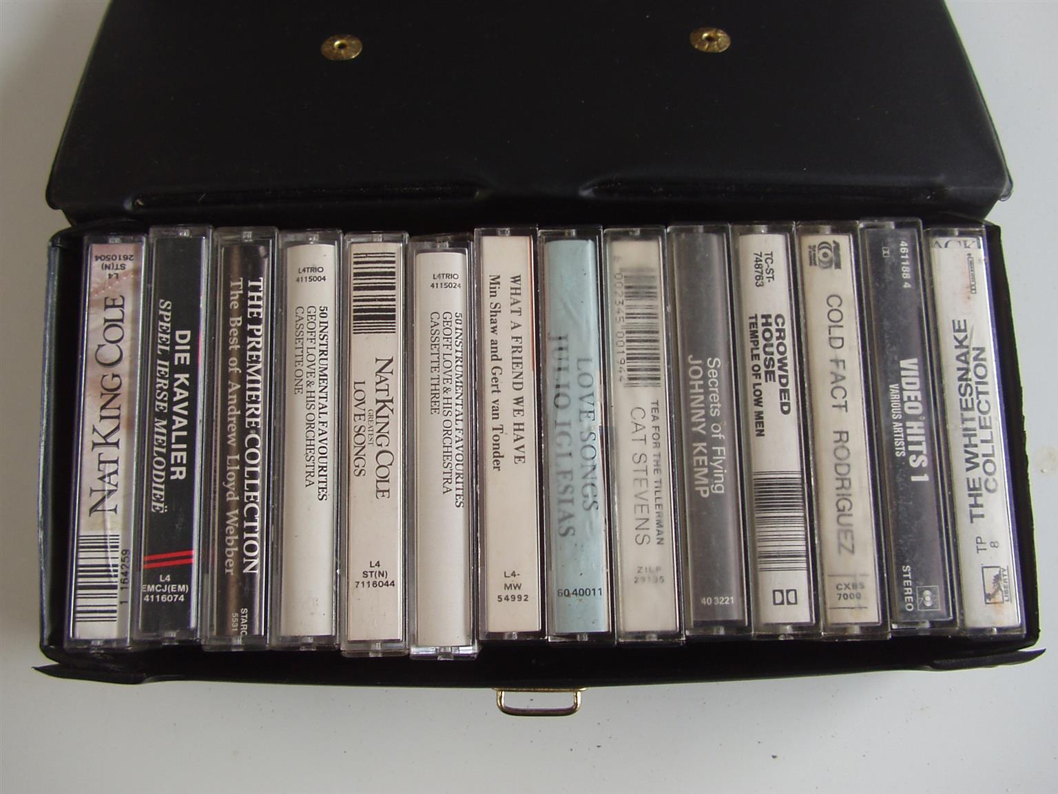 Music Cassettes - 14 cassettes in case