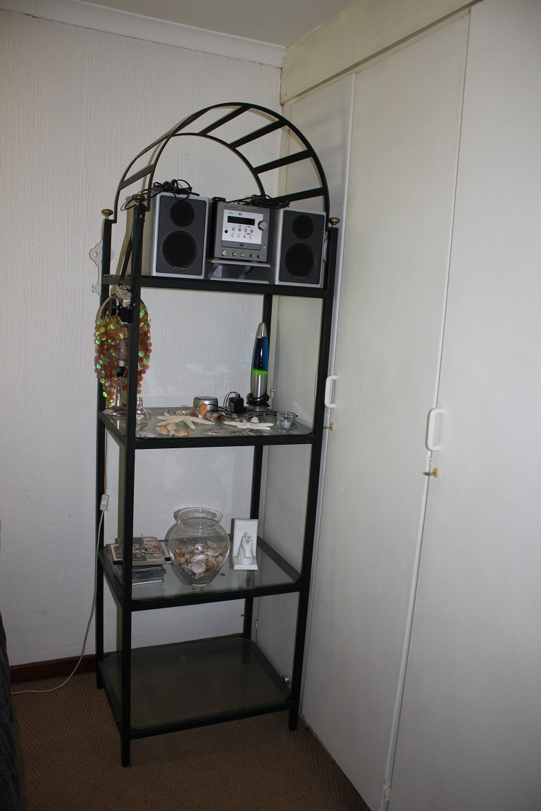 Wrought -Iron Display with Glass shelves for sale