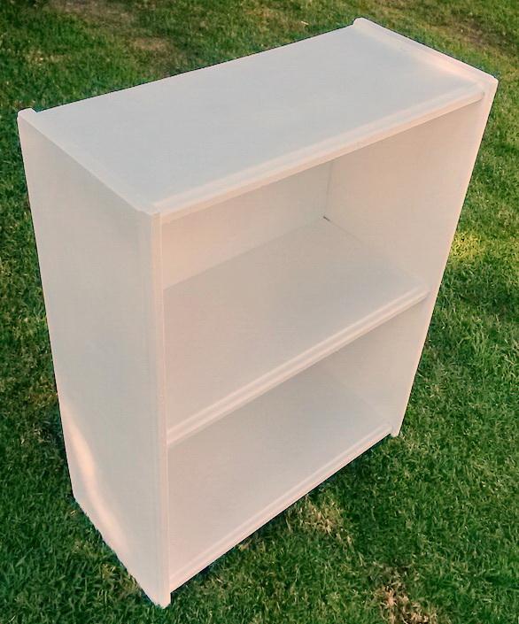 Smallish vintage wooden book cabinet (white)