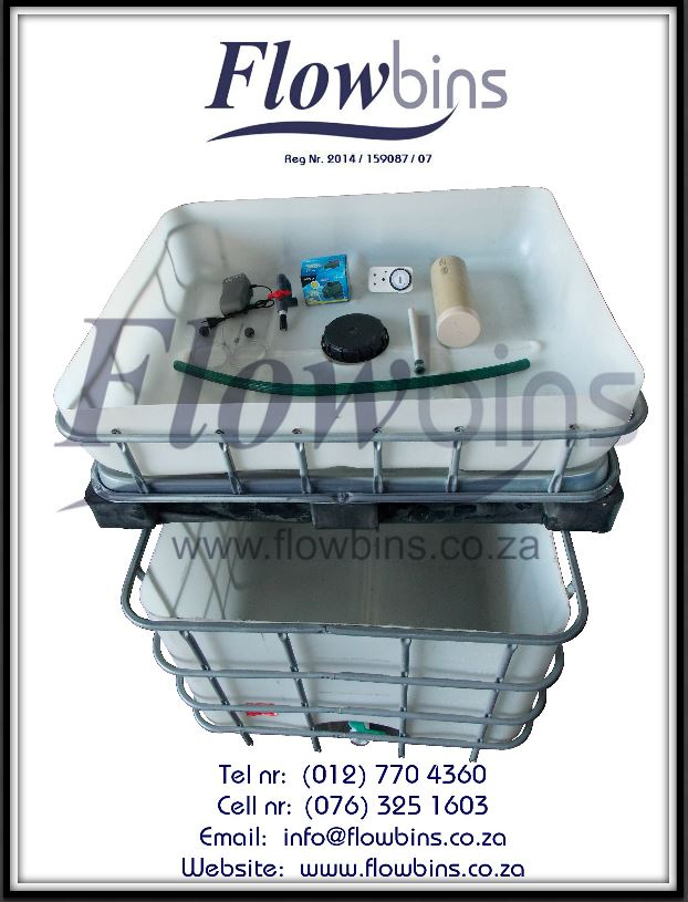 Aquaponics complete starter kits - Growbed, Fish tank, Water pump, Air pump, Fittings & Piping