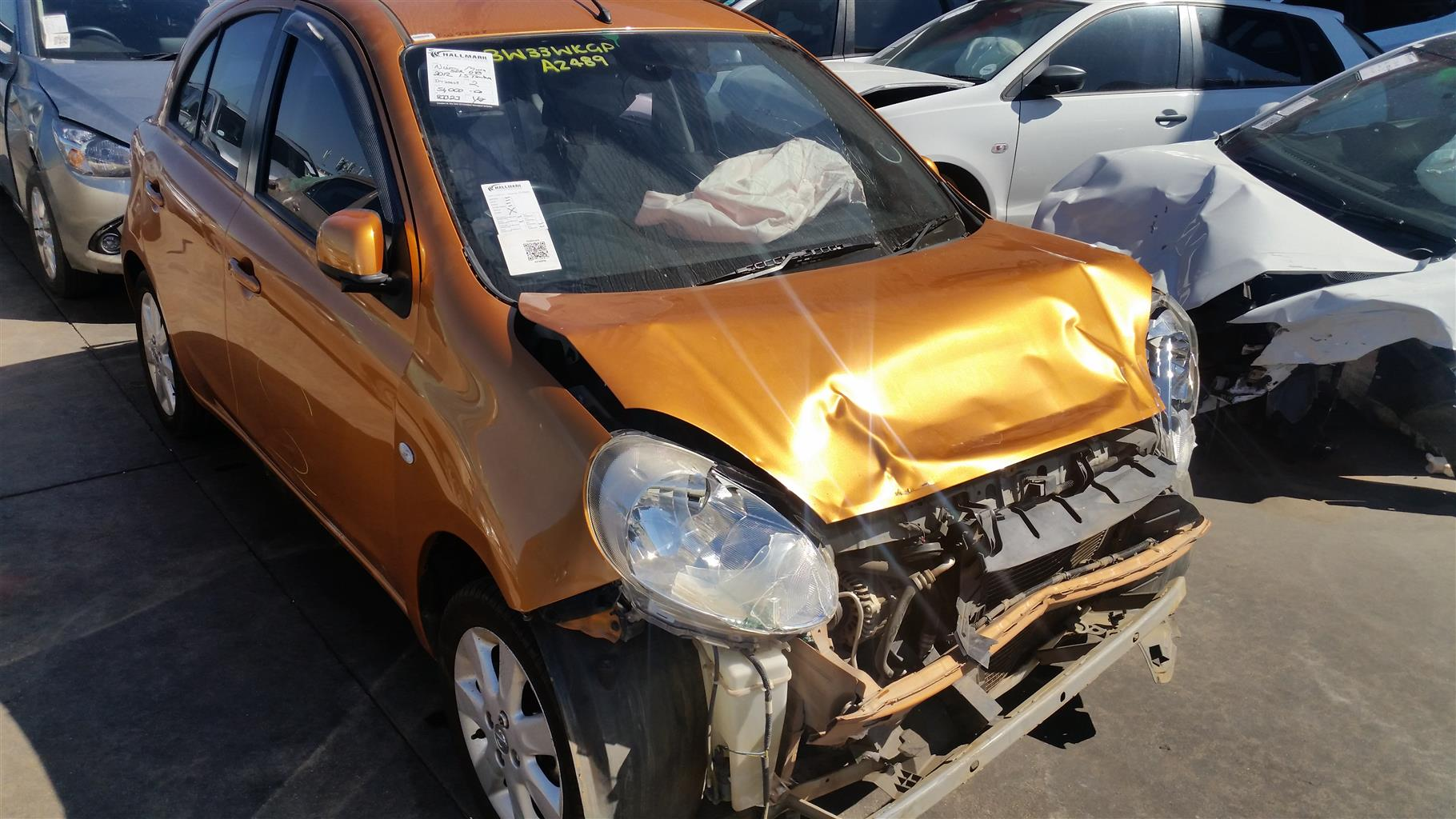 Salvage/Accident Damaged Nissan Micra 2012 1.5 with 83323KM (REF IW25668)