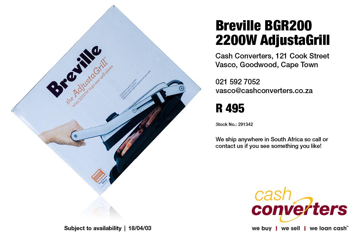 Breville BGR200 2200W AdjustaGrill