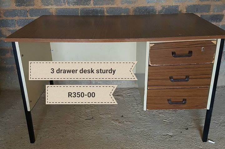 Three drawer desk for sale