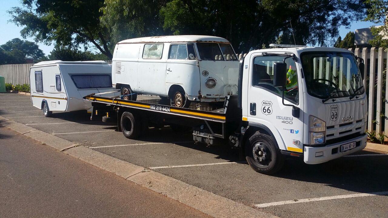 Caravan Transport between Cape Town, George and Gauteng.