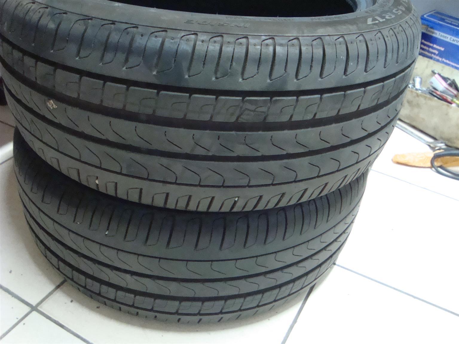 225x45x17 Pirelli   90% thread 2off