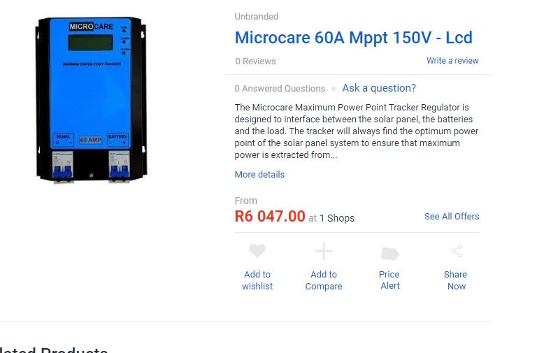 Microcare 60A Mppt 150v