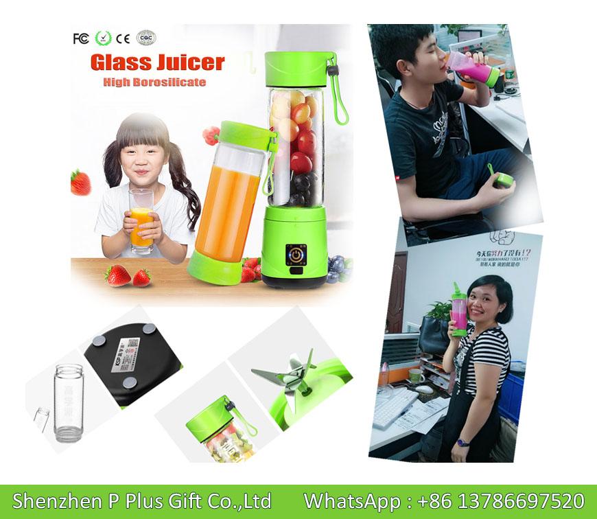 Commercial Portable Blender Bottle Joyshaker 450ml 4400mAh Battery CE RoSH Certified