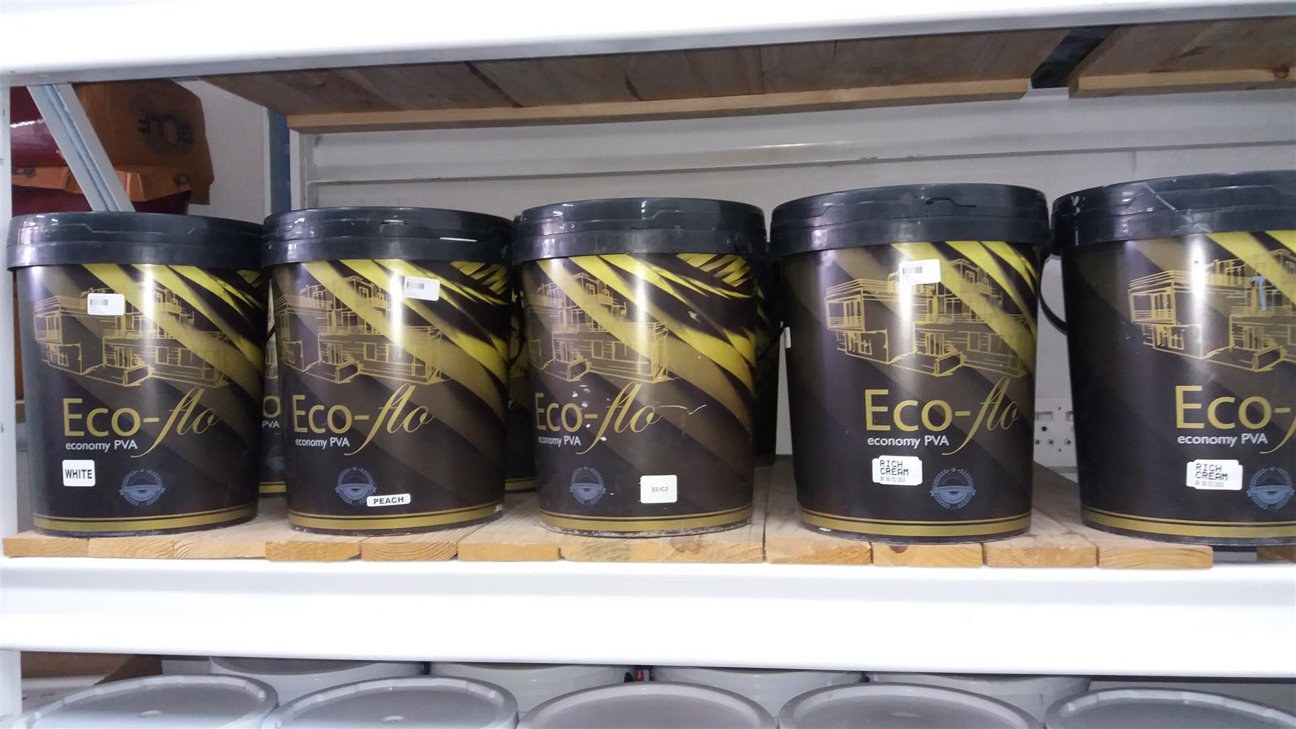 PAINT ECO PVA ON SPECIAL FROM R130 FOR 20L@ BUILDERS CORNER