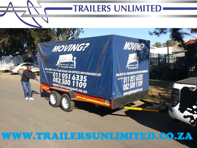 TRAILERS UNLIMITED. UTILLITY WITH PVC COVER.
