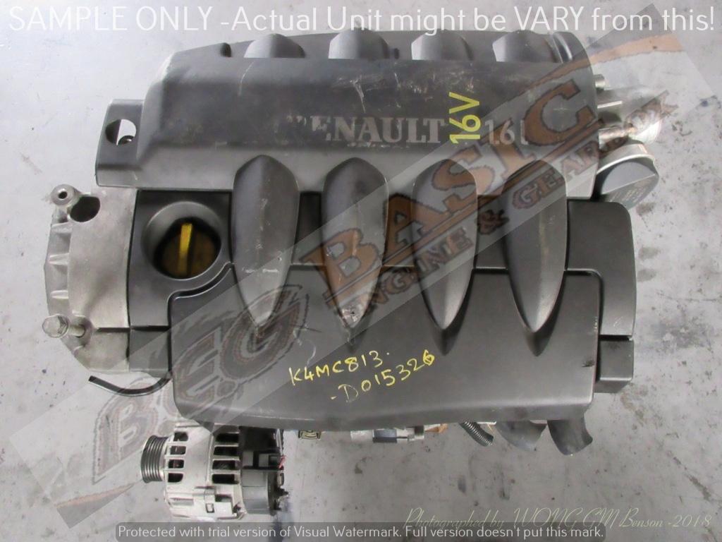 RENAULT MEGANE II -K4MC813 1.6L EFI 16V Engine