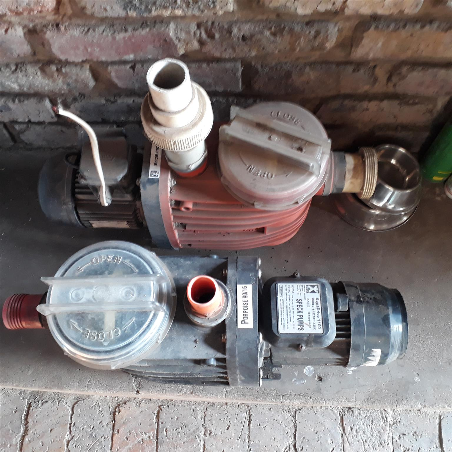 SPECK Pool Pumps FOR SALE - running in good order: