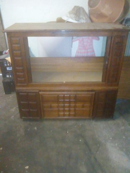 Tv cupboard with mirror