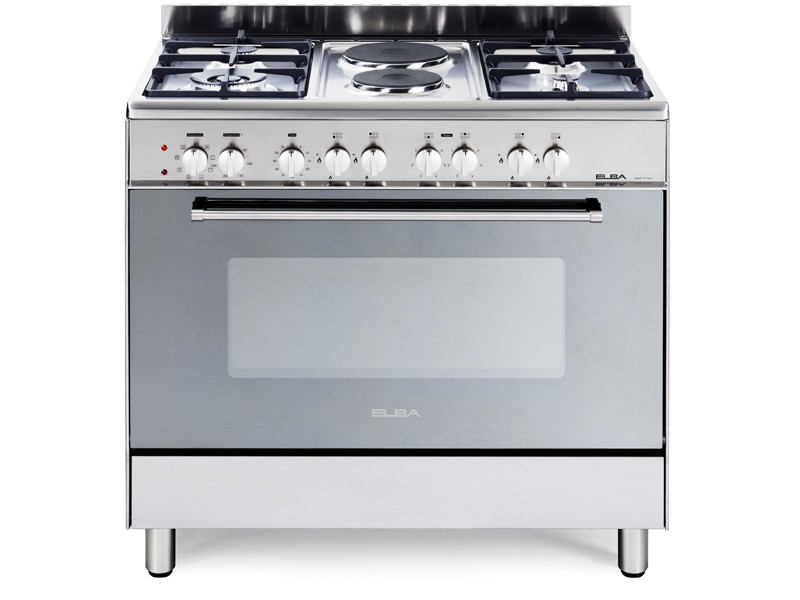 UNBEATABLE OFFER ON ELBA 900MM 4 GAS BURNER/2 PLATE STOVE STAINLESS STEEL 01/9CX727