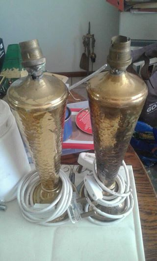 Brass lamps without shades