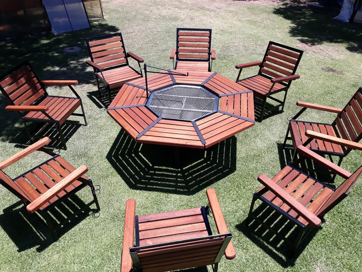 Braai table and chairs