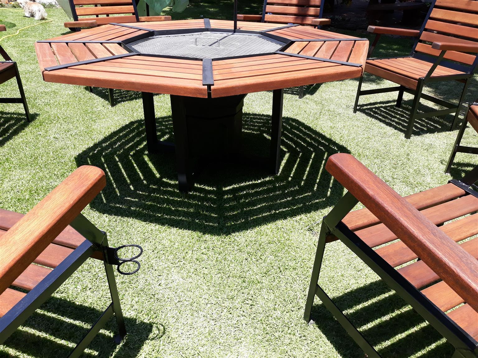 Braai table and chairs