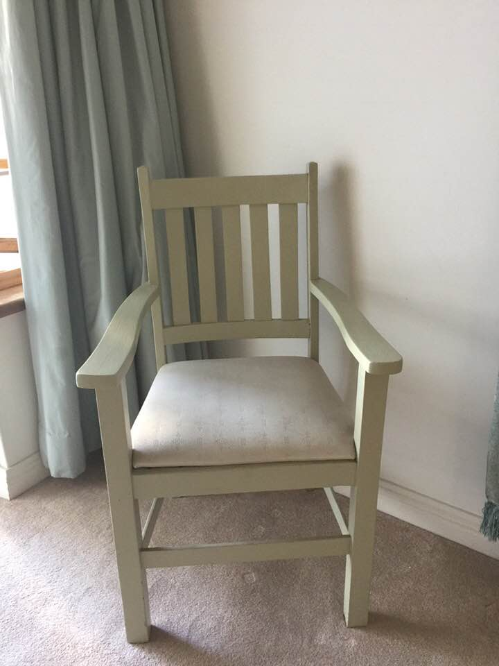 White wooden chair for sale