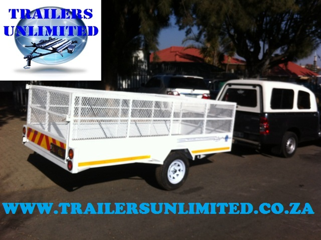 Removal Utility Trailer with Mesh