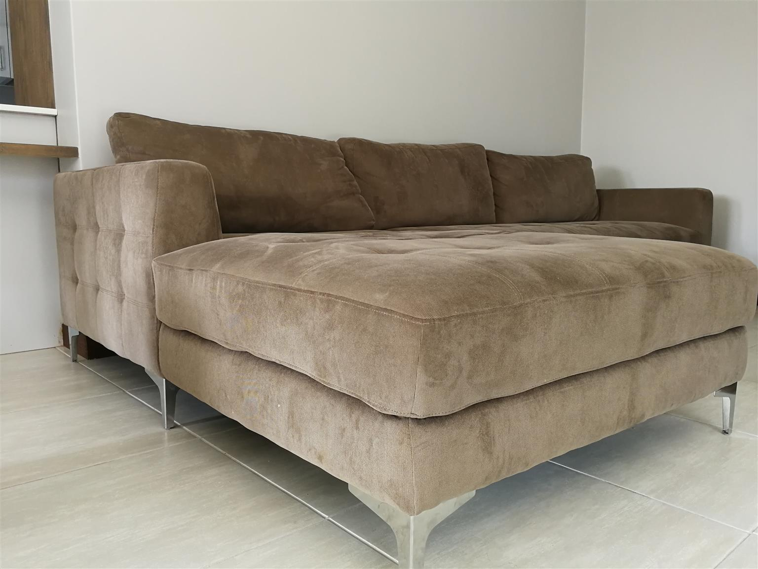 @Home Oxford Brown L shaped Corner Couch for Sale