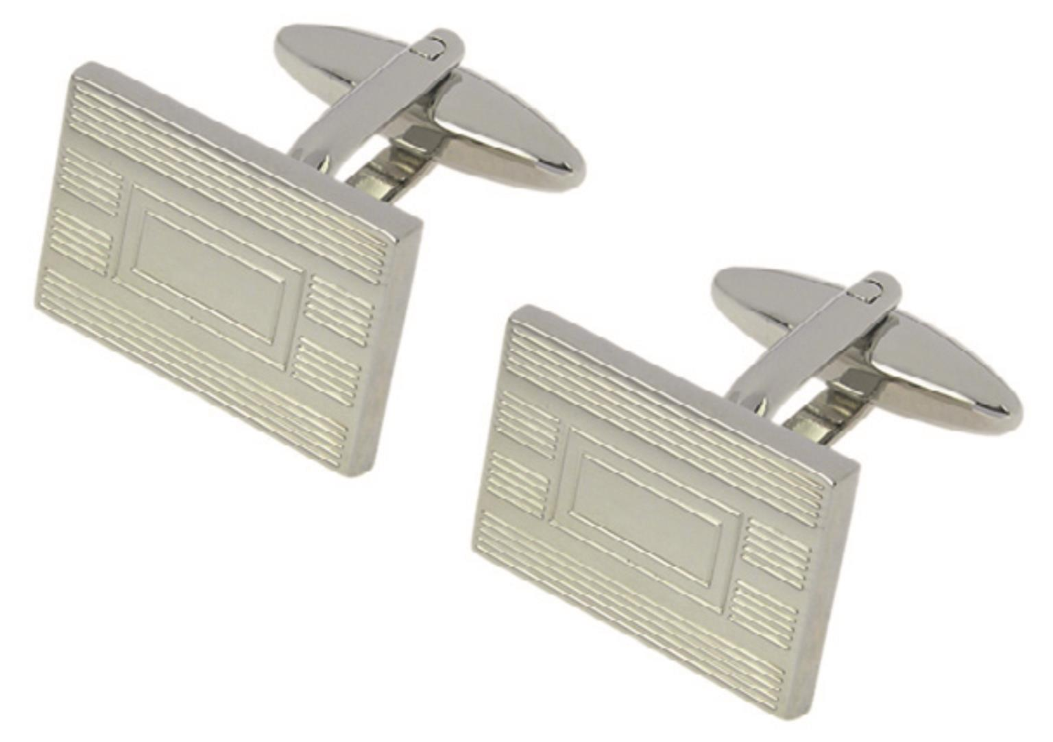 Silver cuff links in presentation box!! On Special!!!