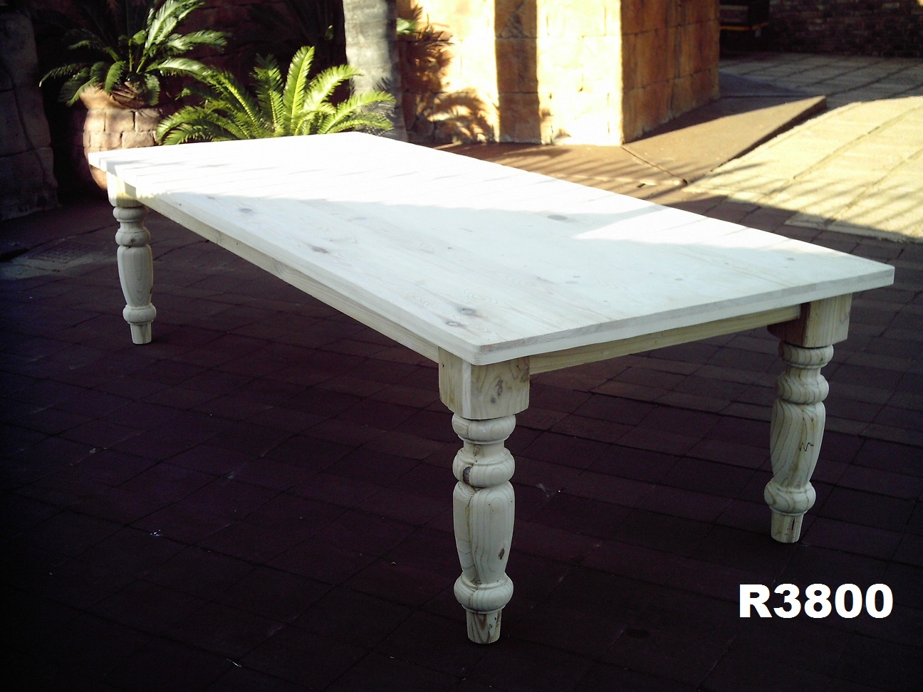 12 Seater Pine  Farmstyle Table (3000x1200)