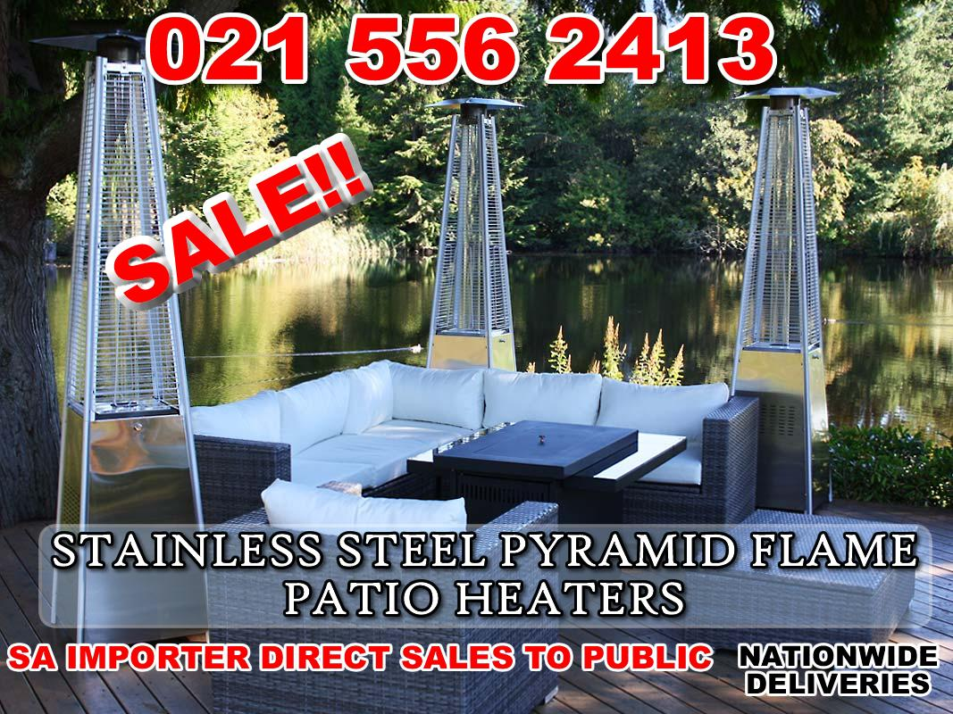 Stainless Steel Glass Tube Flame Patio Heater with wheels