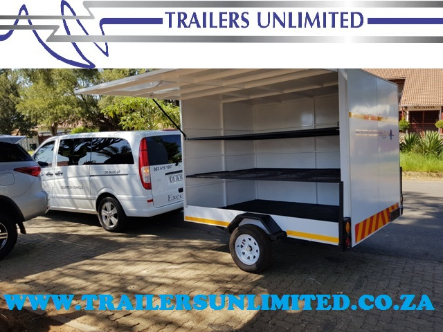TRAILERS UNLIMITED ENCLOSED TRAILER. 2800 X 1600 X 1600