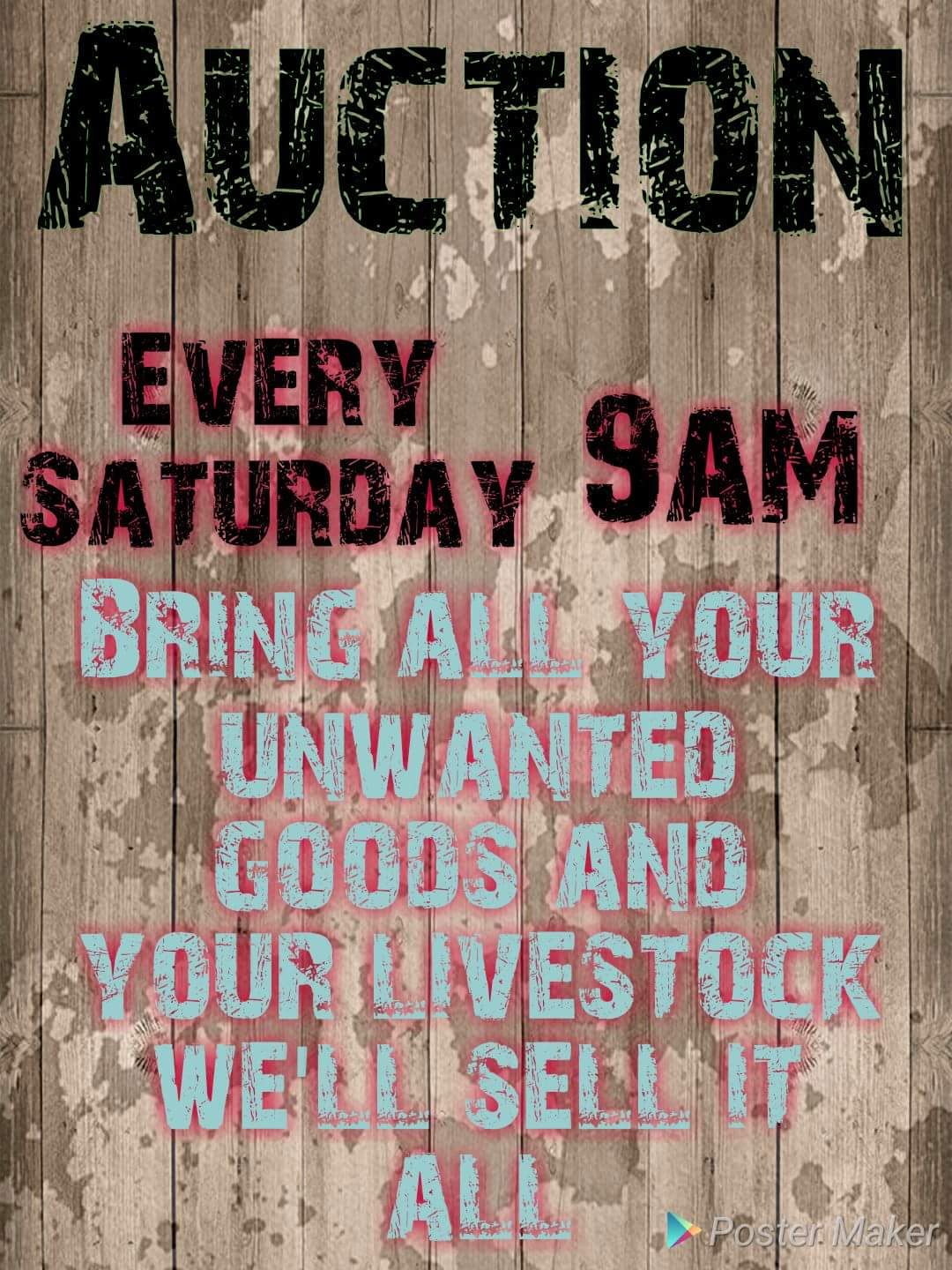 Auction every Saturday Bethal