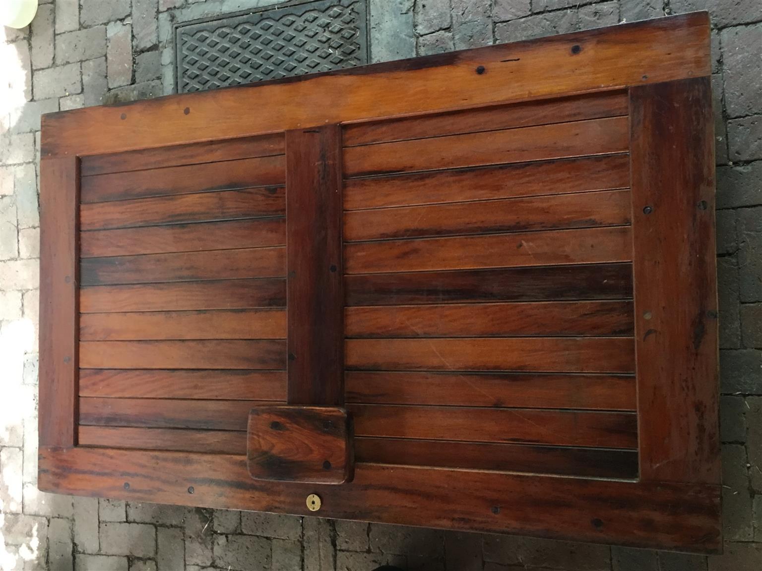 Railway Sleeper Door