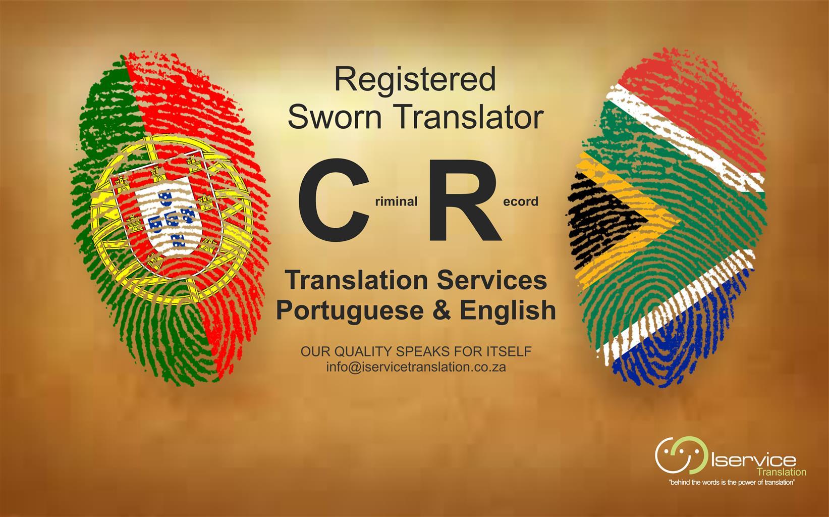 Criminal Record Translation Services - Portuguese and English