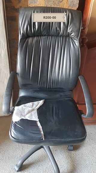 Black damaged office chair
