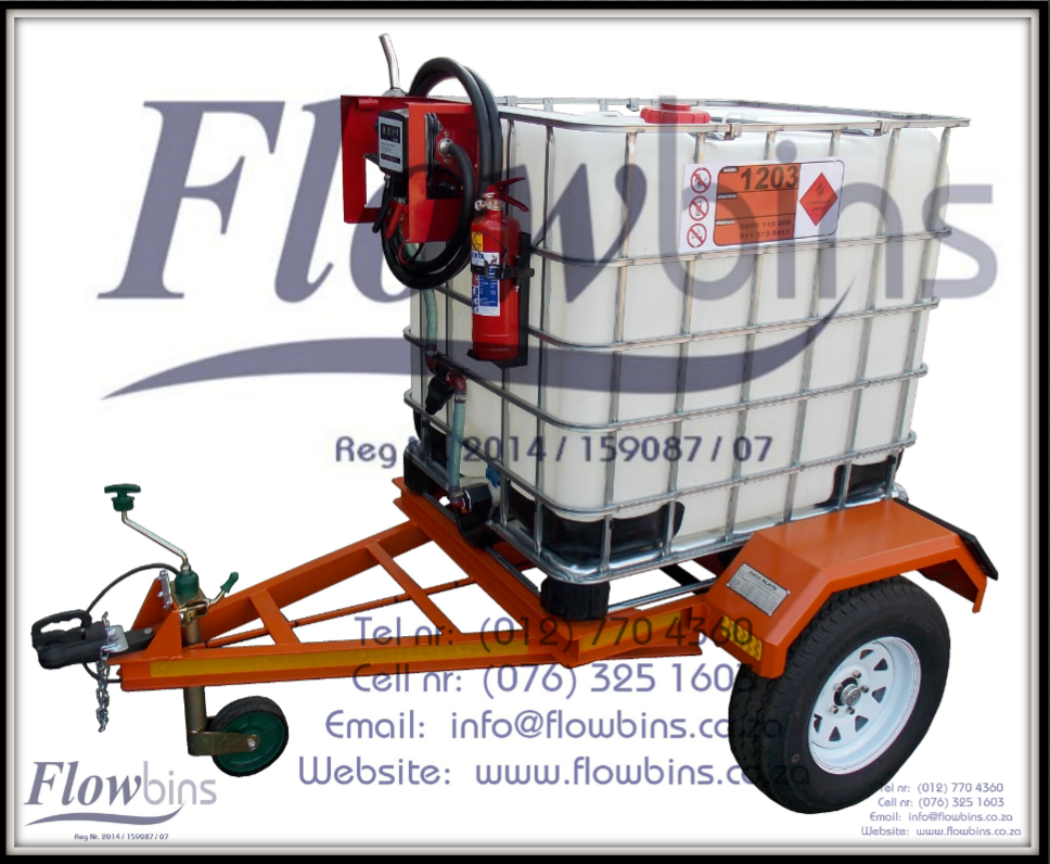 Gauteng: NEW 1000L Diesel Bowser Trailers 12V - Heavy Duty with Papers - from R20 589