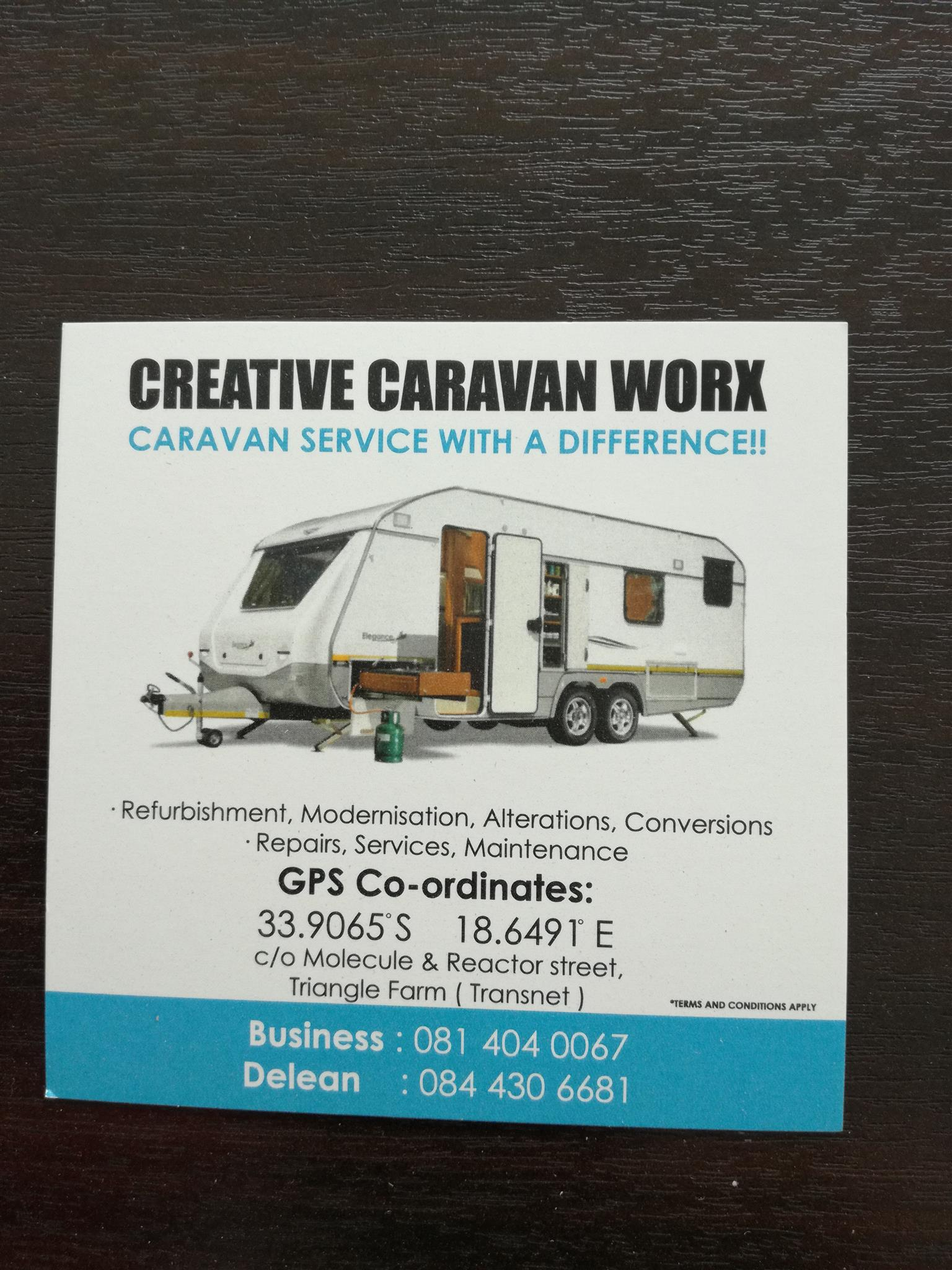 Caravan service, repair and modifications