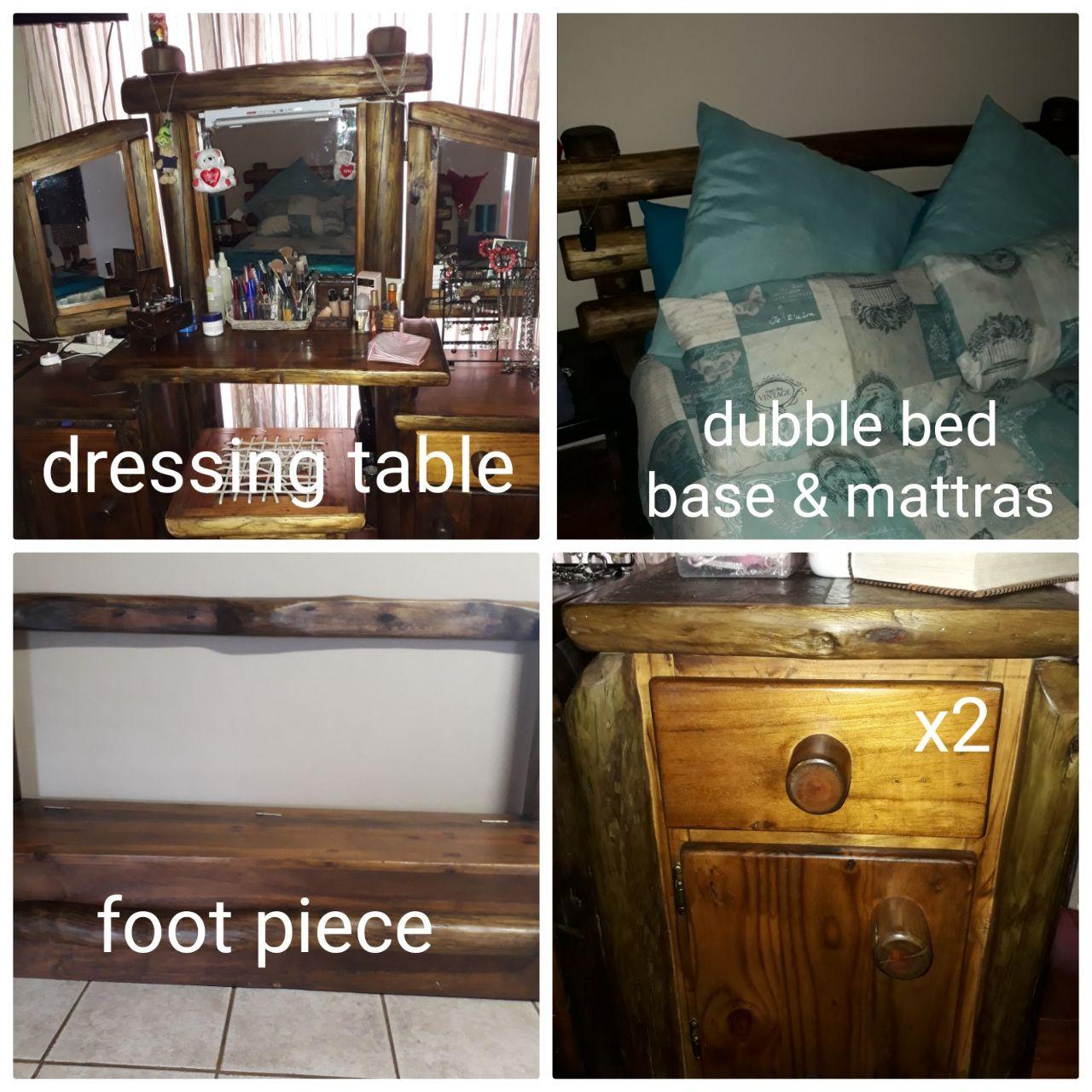 Bedroom set - log design with dressing table
