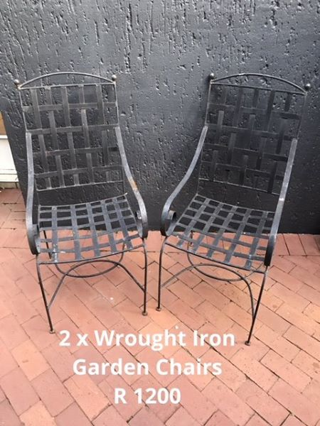 2 WROUGHT IRON CHAIRS