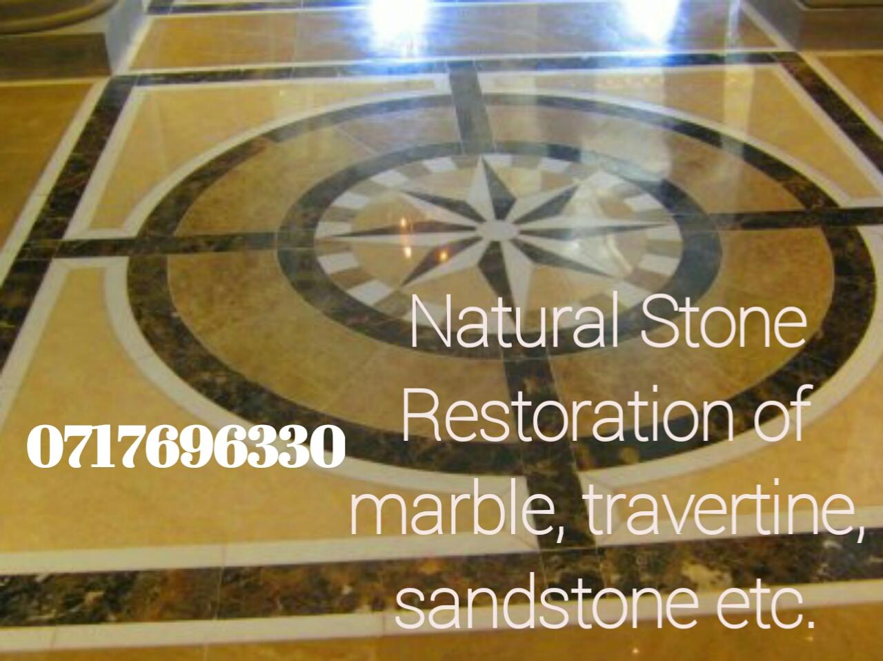 NATURAL STONE RESTORATION OF MARBLE, TRAVERTINE, TERRAZZO, SLATE, GRANITE ETC
