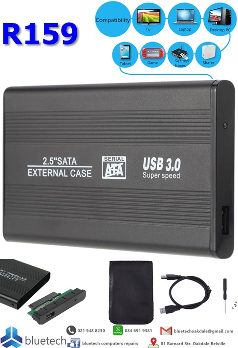 "2.5"" SATA to USB 3.0 HDD Case Hard Disk Drive Case up to 3TB"