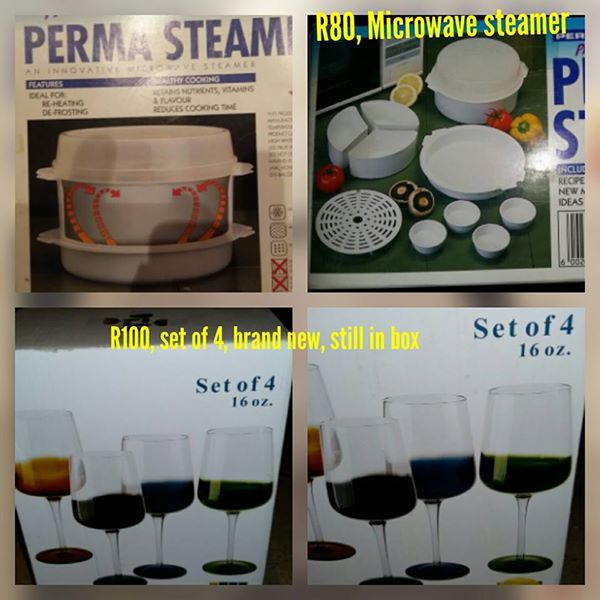Steamer and wine glasses for sale