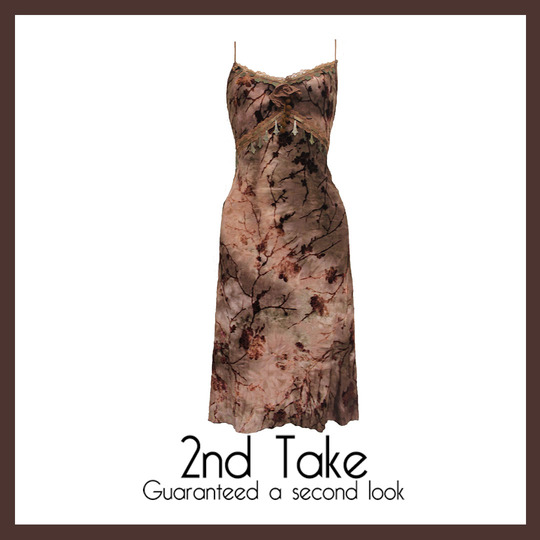 Get this gorgeous brown printed dress
