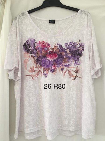 White size 26 floral print shirt