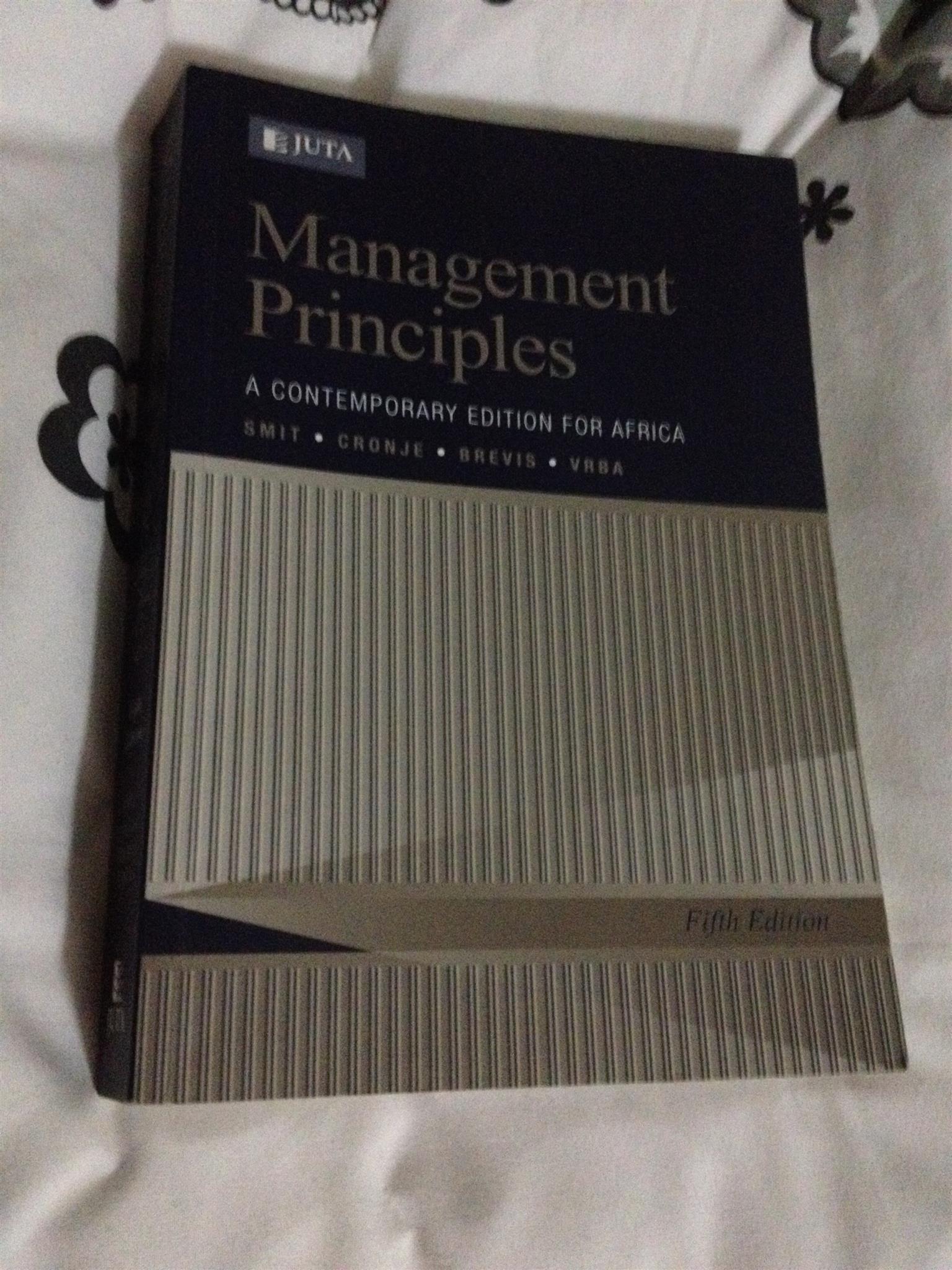 Management principles text book