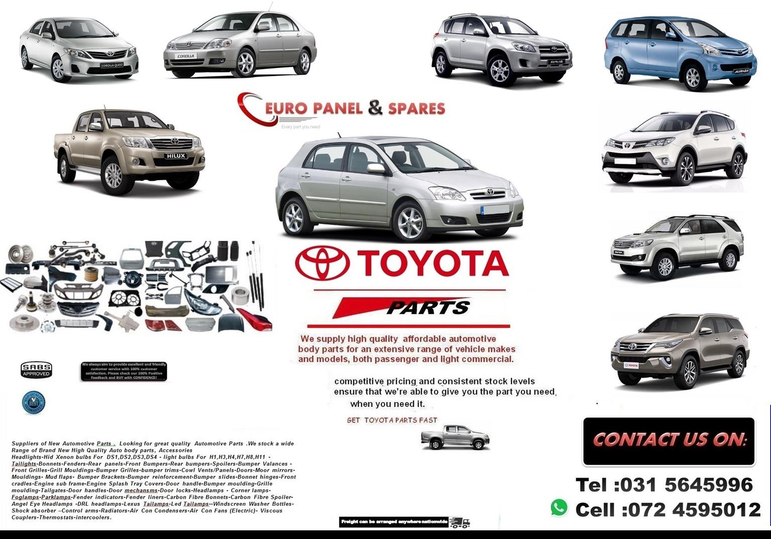 SPECIALISING IN TOYOTA AUTOMOTIVE NEW PARTS.Body Parts,Accessories ,Suspension ,Engine parts-->>>